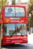 De bus van de toerist in Barcelona Royalty-vrije Stock Fotografie
