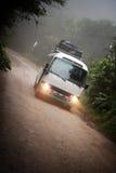 De bus van de toerist dichtbij Monteverde Costa Rica royalty-vrije stock fotografie