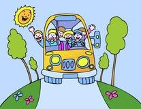 De Bus van de zonneschijn - Profiel vector illustratie
