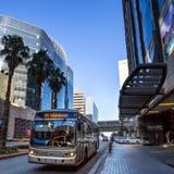 De bus van Gautrain van de Sandtonstad stock fotografie