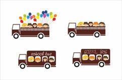 De bus van de kinderenschool Royalty-vrije Stock Afbeeldingen