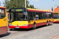 De bus van Solaris in Warshau royalty-vrije stock afbeelding