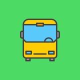 De bus vulde overzichtspictogram, lijn vectorteken, vlak kleurrijk pictogram Openbaar vervoersymbool, embleemillustratie royalty-vrije illustratie