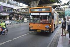 de busauto van Bangkok Stock Foto's