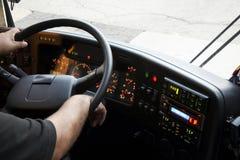 De buschauffeur van het dashboard Stock Fotografie