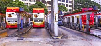 De buseindpunt van de sterveerboot, tsim shatsui, Hongkong Royalty-vrije Stock Fotografie