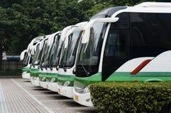 De bussen van de reis royalty-vrije stock afbeelding