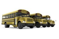 De bussen van de school Stock Afbeeldingen