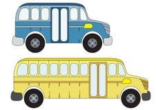 Schoolbussen stock afbeelding