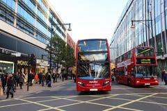 De Bussen van Londen stock foto