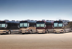 De Bussen van Prevost Stock Afbeelding