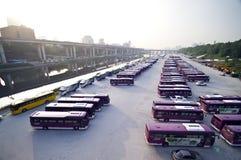 De bussen van Seoel Stock Afbeelding