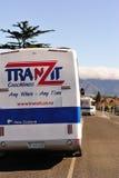 De bussen van TranZit, Nieuw Zeeland stock afbeeldingen