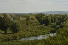 De buurt van het kasteel in de stad van Dubno, Rivne-gebied , De Oekraïne stock fotografie