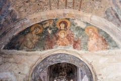 De Byzantijnse Kerk van Mystrasfresko's Royalty-vrije Stock Afbeeldingen