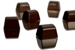 De cabeça para baixo Tração do chocolate fotografia de stock royalty free