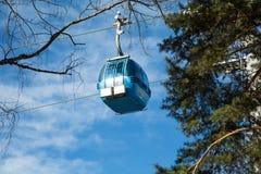 De cabine van de Banskokabelwagen, Bulgarije Stock Afbeelding