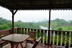 De cabine van de berg Stock Foto