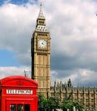 De cabine van de Big Ben en van de telefoon Royalty-vrije Stock Fotografie