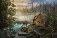 De Cabine van de houtvester royalty-vrije stock afbeeldingen