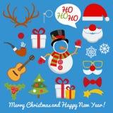 De cabine van de Kerstmisfoto en scrapbooking vectorreeks stock illustratie