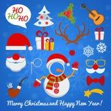 De Cabine van de Kerstmisfoto en scrapbooking vectorreeks vector illustratie