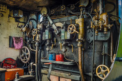 De Cabine van de Motor van de stoom royalty-vrije stock foto