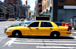 De Cabine van de Taxi van de Stad van New York Royalty-vrije Stock Foto's