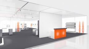 De cabine van de tentoonstelling Stock Afbeelding