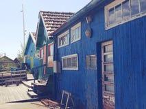 De cabine van de visser Stock Foto