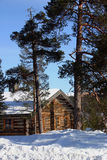 De cabine van de winter stock fotografie