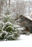 De cabine van de winter Royalty-vrije Stock Foto's