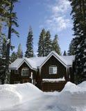 De cabine van de winter Royalty-vrije Stock Afbeeldingen