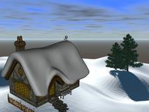 De Cabine van de winter Royalty-vrije Stock Afbeelding