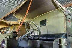 De Cabine van een WWI-Ziekenwagen van het Eraslagveld royalty-vrije stock afbeelding