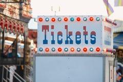 De cabine van het kaartje Stock Foto