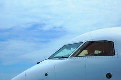 De cabine van het vliegtuig stock fotografie