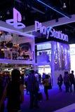 De cabine van PlayStation bij E3 2011 Stock Foto