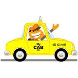 De cabinebestuurder van de taxi Stock Foto's