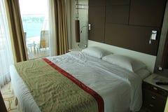De cabinebinnenland van het cruiseschip Royalty-vrije Stock Foto