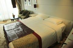 De cabinebinnenland van het cruiseschip Stock Fotografie