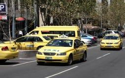De cabines van de taxi stock foto's