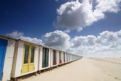 De cabines van het strand stock foto's