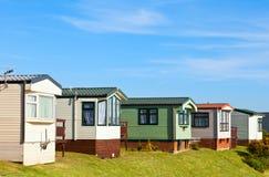 De cabines van het vakantiepark Stock Foto