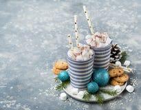 De cacao van chocoladeschilferkoekjes ANS Stock Afbeelding