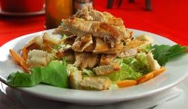 De caesar salade van de kip Stock Fotografie