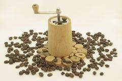De café todavía de la amoladora vida retra Imágenes de archivo libres de regalías