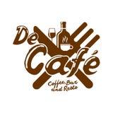 De Cafe Logo 免版税图库摄影