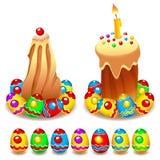 De Cake en de Eieren van Pasen royalty-vrije illustratie