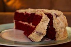 De cake - en eet ook het Stock Foto's